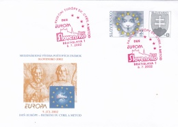 Slovakia Postal Stationary 2002 Europa  W/print Europa Den Used   (G87-20) - Enteros Postales