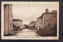 CPA 38 - SAINT-VERAND - Environs De SAINT-MARCELLIN - La Grand'Rue - TB PLAN Avenue CENTRE VILLAGE Petite Animation - Saint-Vérand