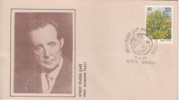 India  1985  Sanskrit Language Scholar  Professor  Giuseppe Tucci  New Delhi  Special Cover  #  06592   D  Inde Indien - Languages