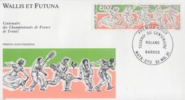 Enveloppe  FDC   1er   Jour   WALLIS  ET  FUTUNA    ROLAND   GARROS  Centenaire  Du  Tournoi  De  FRANCE    1991 - Tennis