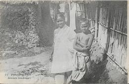 Inde: Pondichery - Jeunes Hindous - Messageries Maritimes - Carte Dos Simple Non Circulée - Asie