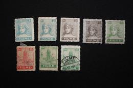 FIUME - ALLEGORIE E VEDUTE - SERIETTA -  1919 - SENZA GOMMA/USATO - 8. WW I Occupation
