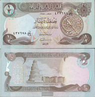 Iraq Pick-number: 68a, Signature 22 Uncirculated 1985 1/2 Dinar - Iraq