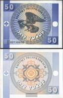 Kirgisistan Pick-number: 3 Uncirculated 1993 50 Tyiyn Adler - Kyrgyzstan