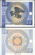 Kirgisistan Pick-Nr: 3 Bankfrisch 1993 50 Tyiyn Adler - Kirghizistan