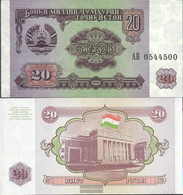 Tajikistan Pick-number: 4a Uncirculated 1994 20 Rubles - Tajikistan