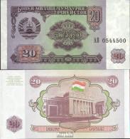 Tadschikistan Pick-Nr: 4a Bankfrisch 1994 20 Rubles - Tadschikistan