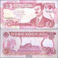 Iraq Pick-number: 80c Uncirculated 1992 5 Dinars - Irak