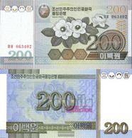 North-Korea Pick-number: 48a Uncirculated 2005 200 Won Flowers - Korea, North