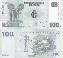 Kongo (Kinshasa) Pick-number: 98a Uncirculated 2007 100 Francs - Congo