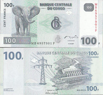 Kongo (Kinshasa) Pick-Nr: 98a Bankfrisch 2007 100 Francs - Kongo