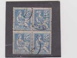 FRANCE   1900-01  Y.T. N° 118  Oblitéré - 1900-02 Mouchon