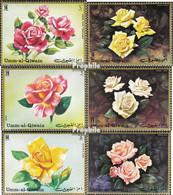Umm Al Kaiwain 675A-680A (kompl.Ausg.) Postfrisch 1972 Rosen - Umm Al-Qaiwain