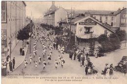 Bourg Concours De Gymnastique Des 15 Et 16 Aout 1909 7 Défilé Du 16 Aout Fin De La Quatrième Colonne - Bourg-en-Bresse