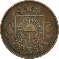 Monnaie, Latvia, 2 Santimi, 1922, TTB, Bronze, KM:2 - Lettonie