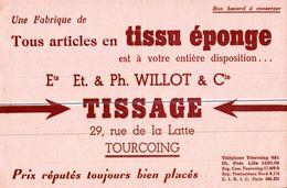 TISSU EPONGE  TISSAGE A TOURCOING - Blotters