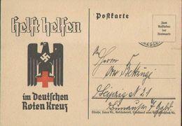 Helft Im Deutschen Roten Kreuz, Leipzig 1940, Propaganda, Postkarte, Drittes Reich - Guerra 1939-45