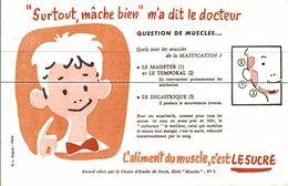 SURTOUT MACHE BIEN M A DIT LE DOCTEUR - Buvards, Protège-cahiers Illustrés