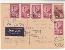 Hungary / Airmail Postcards / Switzerland - Hungary