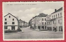 Ciney - L'entrée De La Ville Et Le Rue Du Commerce ... Magasins ( Voir Verso ) - Ciney