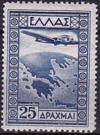 GREECE 1933 Government Issue 25 Dr. Blue Vl. 20 MH - Luchtpostzegels