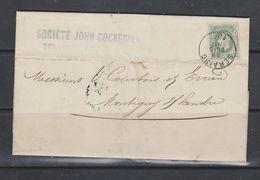 Lettre De Seraing Vers Montignies-Sur-Sambre Société John Cockerill - 1869-1883 Léopold II
