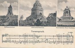 CHEMNITZ - 1918 , Turnerspruch , Kyffhäuser- Völkerschlacht + Porta-Westfalica - Denkmäler - Unclassified