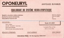 BUVARDS   OPONEURYL - Buvards, Protège-cahiers Illustrés