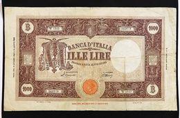 1000 Lire Grande M B.I. 12 10 1946 Naturale  Mb/bb  LOTTO 418 - [ 2] 1946-… : Repubblica