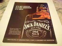 PUBLICITE AFFICHE  WHISKY JACK DANIEL S  2011 - Alcohols