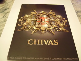 PUBLICITE AFFICHE  WHISKY CHIVAS  2011 - Alcohols