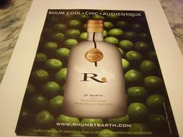 PUBLICITE AFFICHE  RHUM ST BARTH  2011 - Alcohols