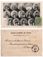 (Grèce) 233, Crète, Editeur Maraghianis, Chefs Militaires D'Anoya, Dos Non Divisé, état - Grecia
