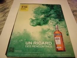PUBLICITE AFFICHE  RICARD / MENTHE  2011 - Alcohols