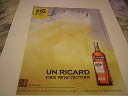 PUBLICITE AFFICHE  RICARD / GLACE  2011 - Alcohols