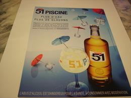 PUBLICITE AFFICHE  PASTIS 51 PISCINE  2011 - Alcohols
