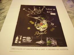 PUBLICITE AFFICHE MARTINI ROYALE  2011 - Alcohols