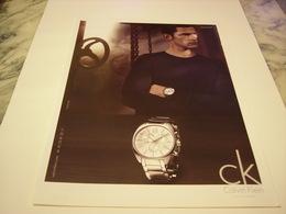 PUBLICITE AFFICHE MONTRE CALVIN KLEIN  2011 - Jewels & Clocks