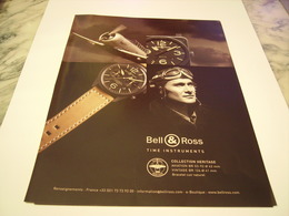 PUBLICITE AFFICHE MONTRE BELL & ROSS  2011 - Jewels & Clocks