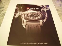 PUBLICITE AFFICHE MONTRE ZODIAC 2011 - Bijoux & Horlogerie