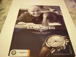 PUBLICITE AFFICHE MONTRE LONGINES AVEC ANDRE AGASSI  2011 - Autres