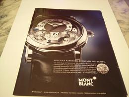PUBLICITE AFFICHE MONTRE MONT BLANC  2011 - Bijoux & Horlogerie