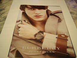 PUBLICITE AFFICHE MONTRE BURBERRY  2011 - Jewels & Clocks