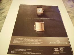 PUBLICITE AFFICHE MONTRE JAEGER-LECOULTRE  2011 - Jewels & Clocks