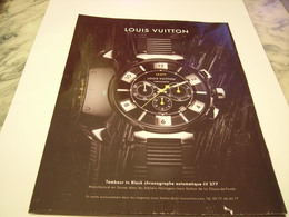PUBLICITE AFFICHE MONTRE LOUIS VUITTON  2011 - Jewels & Clocks