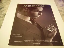 PUBLICITE AFFICHE MONTRE RICHARD MILLE  2011 - Jewels & Clocks
