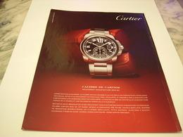 PUBLICITE AFFICHE MONTRE CARTIER  2011 - Jewels & Clocks