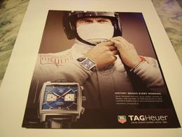 PUBLICITE AFFICHE MONTRE MONACO TAGHEUER  2011 - Jewels & Clocks