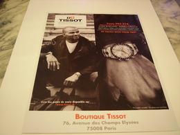 PUBLICITE AFFICHE MONTRE TISSOT AVEC TONY PARKER  2011 - Bijoux & Horlogerie
