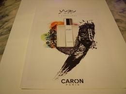 PUBLICITE AFFICHE PARFUM YUSU DE CARON  2011 - Fragrances